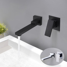 $enCountryForm.capitalKeyWord NZ - Bathroom Wall Mounted Basin Faucet Rotatable Bathtub Faucet Spout Water Mixer Valve Tap Sink Tapware ,Matte Black  Chrome