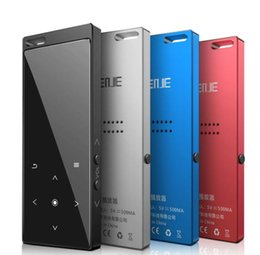 Voice Music Speakers Australia - Newest Benjie M3 Touch Bluetooth MP3 Player Portable Audio 8GB with Built-in Speaker Music Player Recorder FM Radio Support TF