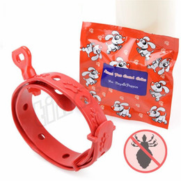 Dog collars flea online shopping - Pet dog insect repellent flea killing ring Dog collar flea removal collar Cat collar eliminates fleas repels mosquitoes T9I008