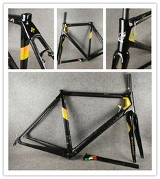 Road Bicycle Frameset Australia - Gold Colnago C64 road bike frame frameset glossy full carbon fiber road bicycle frame Di2 And Mechanical Both