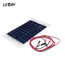 $enCountryForm.capitalKeyWord Australia - module LEORY 12V 10W Panel PolyCrystalline Cells DIY Solar Module Epoxy Resin With Block Diode 2 Alligator Clips 4m Cable