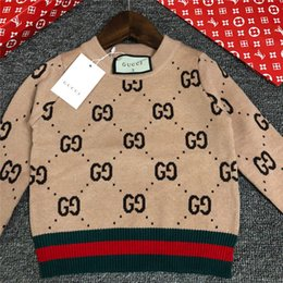 China 2019 INS Autumn And Winter Sweater Pure Cotton Round Neck Sweater Children kids knitted clothes supplier pure wool clothing suppliers