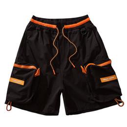 $enCountryForm.capitalKeyWord UK - Hip Hop Multi Pockets Cargo Baggy Shorts Streetwear Mens Summer Casual Short Pants Fashion Male Trousers Orange