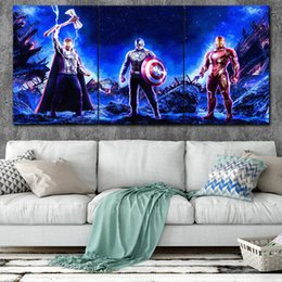 marvel art prints NZ - Marvel Avengers Canvas Posters Home Decor Wall Art Framework 3 Pcs Paintings Style3 For Living Room HD Prints Moive Pictures