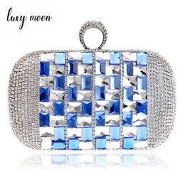 $enCountryForm.capitalKeyWord NZ - Luxury Rhinestone Evening Bag High Quality Crystal Women Clutch Bags Bride Wedding Purse Day Clutches Small Female Shoulder Bag