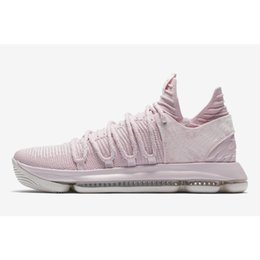 separation shoes 7f3c3 3a9a7 Cheap Mens KD 10 Aunt Pearl basketball shoes Floral Kay Yow Think Pink  Kevin Durant KD10 x sneakers tennis with original box for sale