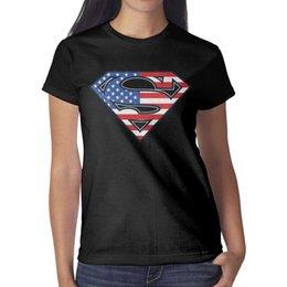 $enCountryForm.capitalKeyWord Australia - Superman Logo S Shield American Flag Paint Womens T Shirt black Shirts Custom T Shirts Designer Esign Band Design Your Own Shirt Black