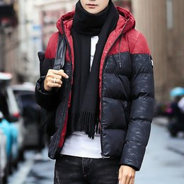 quilted parka men Australia - Winter Jacket Men Parkas Men Casual 2019 Hooded Coats Outerwear Thick Cotton Quilted Male Brand Clothing