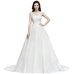 92c54ce98a14b Real Image 2019 A Line Wedding Dresses Sheer Neck Appliques Sexy V Cut Backless  Bridal Gowns Cheap CPS751