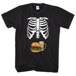 $enCountryForm.capitalKeyWord Australia - Skeleton Body Burger & Beer Belly T-Shirt Funny Mens Halloween Shirt Joke L327 Male Hip Hop funny Tee Shirts cheap wholesale