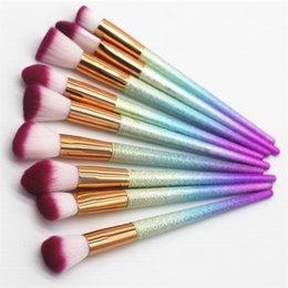 $enCountryForm.capitalKeyWord Australia - 24pcs set Diamond Makeup Brush Set Professional Make Up Brushes Eyebrow Eyeliner Powder Brushes Tools With Opp Package T0061