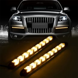 car led turn signals strips Australia - HOT Car LED DRL Turn Signal Light Strips Waterproof Daylight Running Frash Flow Tube Flexible Strip Warnning Arrow DRL Lamp 2PCS
