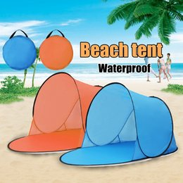 Three Season Tents Australia - Outdoor Portable Waterproof Camping Beach Tent Pop Up Open Camping Tent Fishing Hiking Outdoor Automatic Instant Portable