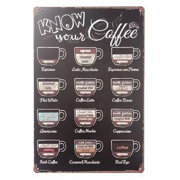 $enCountryForm.capitalKeyWord Australia - Know Your Coffee Decor Metal Nostalgia Tin Poster Pin up Girl Cafe Bar Home Wall Garage Christmas Vintage Art Custom