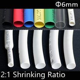 Shrink tube kit online shopping - 6mm Heat Shrinkable Tube Shrink Tubing Sleeving Wrap Wire Cable Kit Usage for Domestic Appliance Repair