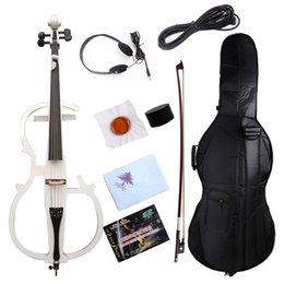 Yinfente Elektro-Cello 4/4 6 Farbe auswählen Massivholz Ebony Fittings Bag Bow im Angebot