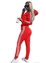 Donna Set Donna Tuta Crop Tops Felpe con cappuccio Pantaloni Set Lady Leisure Wear Tuta casual Plus Size Alta qualità Nuovo in Offerta
