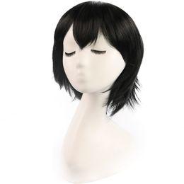 $enCountryForm.capitalKeyWord UK - Christmas Black Anime wigs Cosplay colorful Short curly hair with 28cm synthetic braid hair