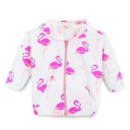 1b88dde53 Kids Girls Jackets Children Outwear Baby Girl Clothes Hooded Zipper Coat  Fruits Flamingo Printing Pocketed Long Sleeve 6
