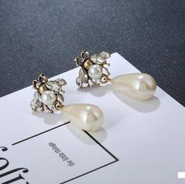 Elf Ears Earrings online shopping - New hot designer elf bee pearl earrings ear clip ladies jewelry gift fashion accessories