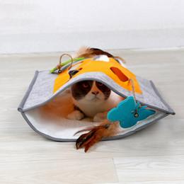 Hidden toy online shopping - Pet Cat Sleeping Tunnel Bag Kitten Scratch Hide Blanket Beathable Non slip Sleeping Bag Kitten Cat Hiding Playing Toy Teaser