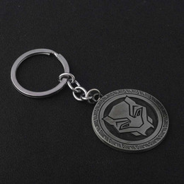 panther chain Australia - The Avengers 3 Black Panther Keychain Gothic Round Key Chain pendant Car Keyring Accessories