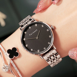 Metal Fines Australia - Two-pin ultra-thin solid steel ribbon quartz lady watch with metal wire drawing and fine water drill