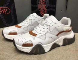 $enCountryForm.capitalKeyWord Australia - Latest Chain Reaction 19FW men sneakers mesh stitching leather casual shoes luxury designer men Squalo platform sports logo casual shoes P1