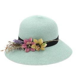064e015a Floppy Brim Women's Ladies Straw Cloche Hat Summer Beach Bowler Sun Cap DIY  Flower Hatband