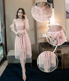 bd06dbcf4 8 Fotos Compra Online Vestido coreano de encaje de las mujeres-Ropa de  verano Nuevas Mujeres Coreanas