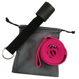 Stretching Straps Australia - Sport Yoga Adjustable Door Upper Leg New Yoga Strap Tension Band Stretch Belt With Cotton multi-function Belt Rope
