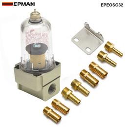 EPMAN Araba Motoru Yağ Ayırıcı Yakalama Rezervuar Tankı Can Filtre Out safsızlıklar Saptırma plakalı Motor Yağı Ayırıcı EPEOSG32