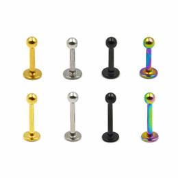 $enCountryForm.capitalKeyWord NZ - Steel Ball Labret Stud Lip Piercing Body Jewelry Ear Helix Tragus Rings 16 Gauge