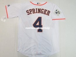 cheap cool base jerseys UK - Cheap Custom New George Springer #4 World Cool Base jerseys White Stitched Retro Mens jerseys Customize any name number