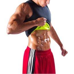 Chinese  MoneRffi Men Shapers Sport Fitness Running Tank Tops Gym Training Clothing Shapwear Compression Tights Waist Abdomen Shaper Vest manufacturers