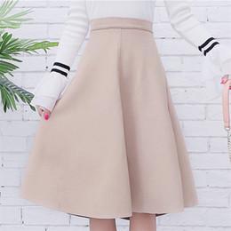 $enCountryForm.capitalKeyWord Australia - Neophil Women Suede High Waist Midi Skirt 2019 Winter Vintage Style Pleated Ladies A Line Black Flare Skirt Saia Femininas S1802 MX190731
