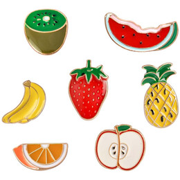 $enCountryForm.capitalKeyWord Australia - Watermelon Kiwi Strawberry Orange Banana Pine Cartoon Fruit Fashion Brooches For Women And Kids