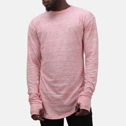 Kanye West Shirt Holes UK - Fear of God Style Long Sleeve tshirt hip hop swag tyga street wear t-shirt Thumb Hole Cuffs kanye west tee