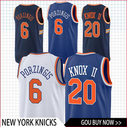 182207567 top 20 Knox 6 Porzingis Knicks jersey basketball Jersey men fans clothes  printed