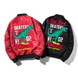 $enCountryForm.capitalKeyWord Australia - Street tide Men's MA1 Flight Bomber Jacket Male Thick warm Baseball Outwear Mens Motorcycle Print dinosaur Punk Tops Jackets