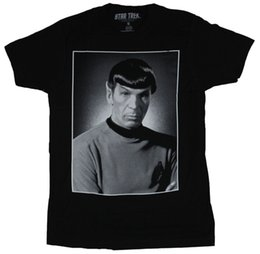 China Star Trek Mens T-Shirt - Classic 60s Era Spock B & W Portrait Image suppliers