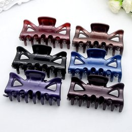 Candy Making Tools Australia - Women Hair Clip Hairpins Candy colors Women Hair Crab Make UP Washing Tool Accessories 7cm *3.5cm