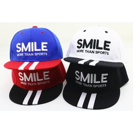 b3f7a117815 Korean New Children s Hat Boy Girl Baseball Cap Boy Handsome Hit Hop Caps  SMILE Street Dance Hat For Kids Outdoor Sunscreen Hats
