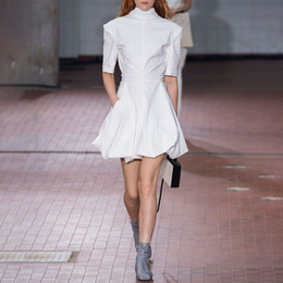 0be7e4fbc92 Elegant Dress Female Turtleneck Half Sleeve High Waist Lace Up Mini Bud  Dresses Women Korean Fashion 2019 Spring