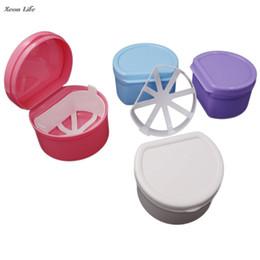 Dental Toys UK - 2017 Fashion Denture Case Bathroom Container Dental False Teeth Storage Box Rinsing