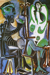 picasso abstract art NZ - Pablo Picasso Abstract Art Painter And His Model,Oil Painting Reproduction High Quality Giclee Print on Canvas Modern Home Art Decor