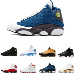Hologram Shoes NZ - Cheap New Top Quality 13 13s Men Women Basketball Shoes Bred Black Brown Blue White hologram flints Grey Red Sports Sneakers Size5.5-13