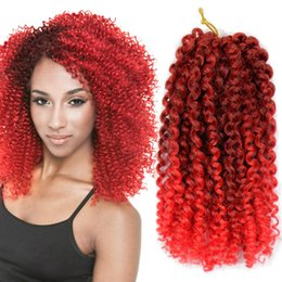 afro kinky hair extensions 613 2019 - 3 Pieces pack Marlybob Crochet Hair Afro Kinky Curly Hair Crochet Braids Curly Wave Crochet Braiding Synthetic Hair Exte