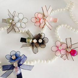 $enCountryForm.capitalKeyWord Australia - Women Wedding Bridal Crystal Rhinestone Hair Clip Girl Hairpin Women Barrette Head Ornaments Flower Hairpin