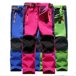 zipper pants for boys NZ - Winter Boys Pants For Girls Warm Trousers Windproof Waterproof Sport Patchwork Pants Kids Children Ski Pant Teenagers Trousers
